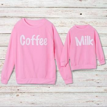 Coffee and Milk Matching Sweatshirt