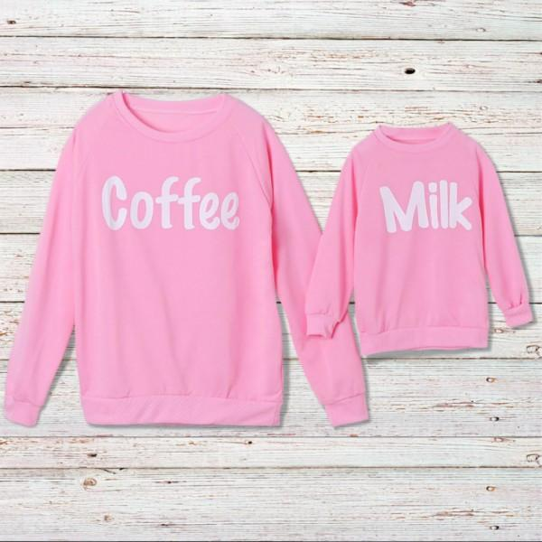 Coffee and Milk Matching Sweatshirt