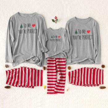 Warm Letter Print Family Pajamas Sets