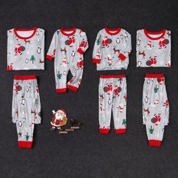 Santa Pattern Family Matching Pajamas