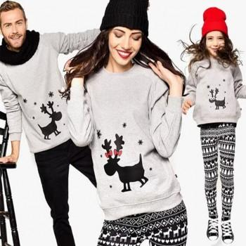 Deer Family Pattern Family Sweatshirt