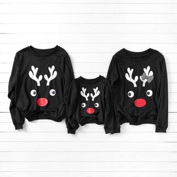 Simple Deer Pattern Family Sweatshirt