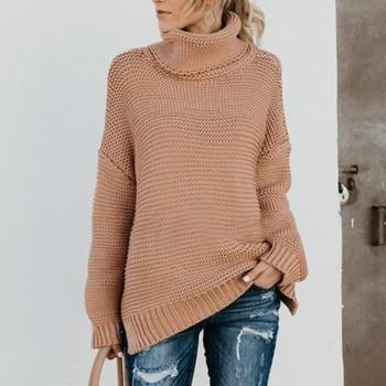 Women's Solid Turtleneck Sweater