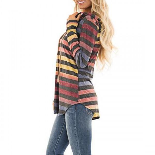 Pretty Drawstring Long-sleeve Pullover