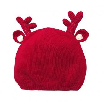 Christmas Reindeer  Sweater Knit  Beanie Hat