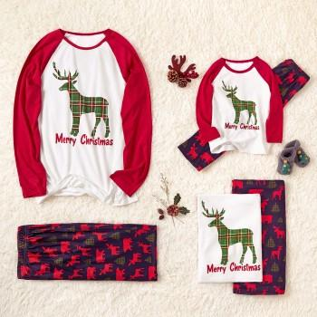 Cute Family Matching Pajamas for Christmas with Reindeer