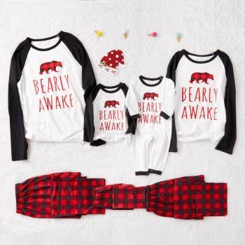 Plaid Bear Family Pajamas for This Winter