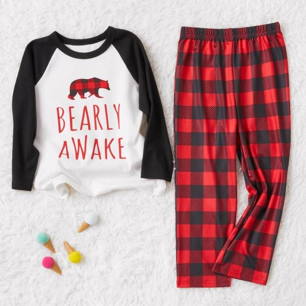 Plaid Bear Family Pajamas for This Winter
