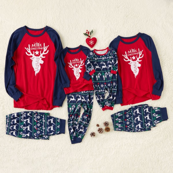 Cool Reindeer Printed Family Pajamas for Winter