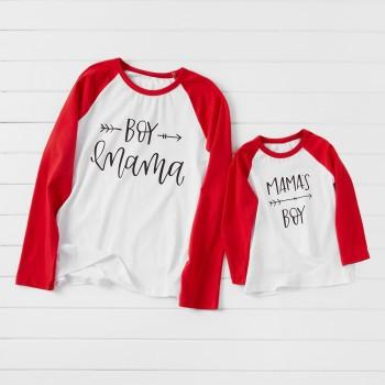 Mom and Boy Letter Print Matching T-shirts