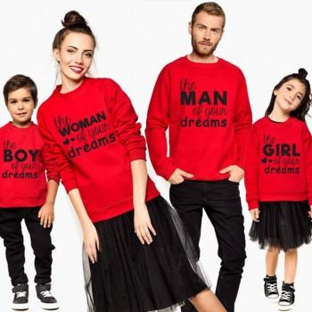 Red Family Dreams Family Sweatshirts