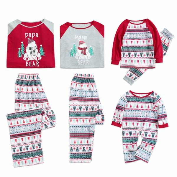 Christmas Snowman and Tree Pattern Family Matching Pajamas