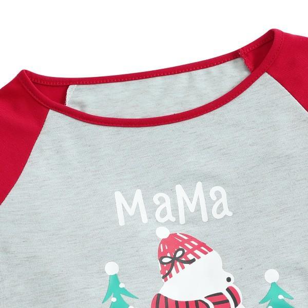 Christmas Snowman and Tree Pattern Family Matching Pajamas