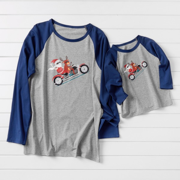 Daddy and Me Cool Christmas on Moto Matching T-shirts
