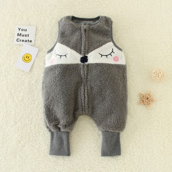 Short Plush Jumpsuit for Baby