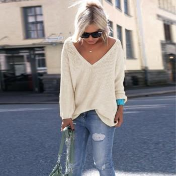 Super Cozy Solid Color Loose Knit Sweater
