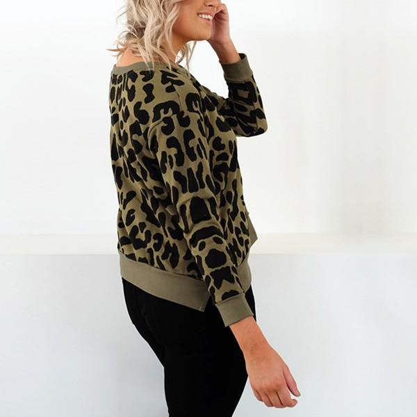 Cool Leopard Print Long-sleeve Tee For women