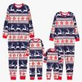 Running Reindeer Printed Family Pajamas for Christmas