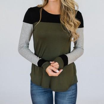 Women's Colorblock Long Sleeve T-shirt