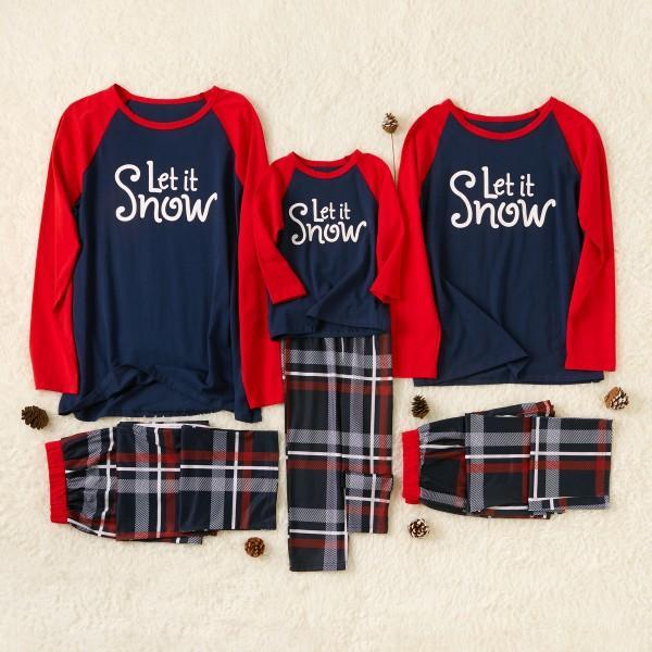 Let's Snow Family Pajamas in Christmas