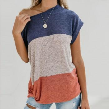 Casual Color block Top For women