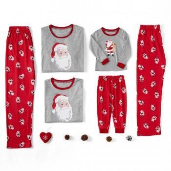 Santa Claus Printed Family Pajamas Sets
