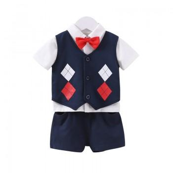 3-piece Shirt Vest and Shorts Set for Baby Boys