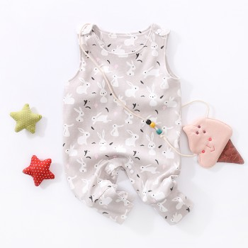 Cute Rabbit Pattern Sleeveless Jumpsuit for Baby