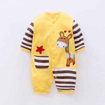 Cute Giraffe Applique Jumpsuit for Baby Boy
