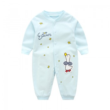 Lovely Duck Star Print Long-sleeve Jumpsuit for Baby