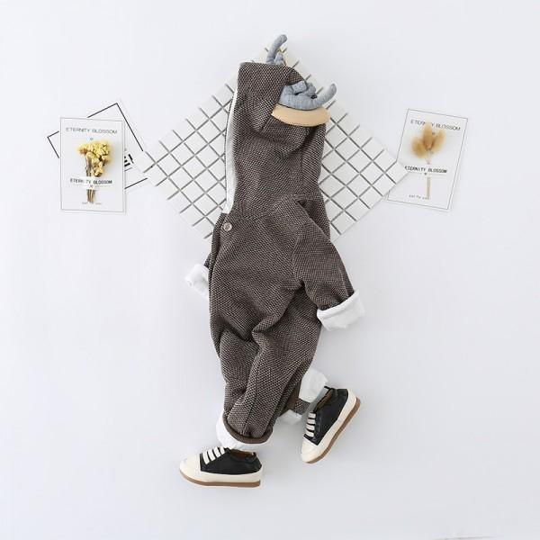 Lovely Deer Fleece-lined Long Sleeve Jumpsuit for Baby