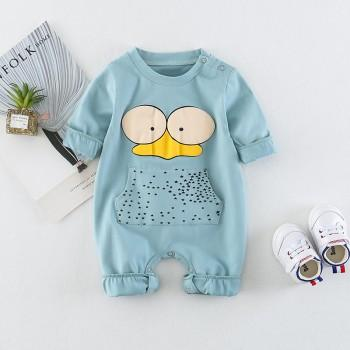 Pretty Cartoon Long-sleeve Jumpsuit for Baby