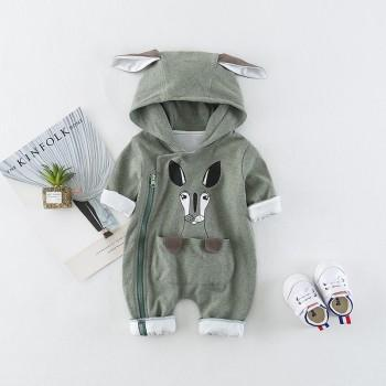 Cuddly Ear Decor Hooded Jumpsuit for Baby