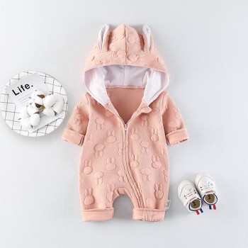 Cute Rabbit Pattern Hooded Jumpsuit for Baby