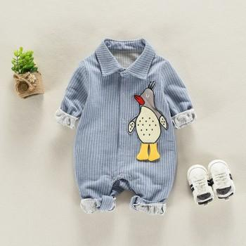 Cute Penguin Pattern Long-sleeve Jumpsuit for Infant/Toddlers