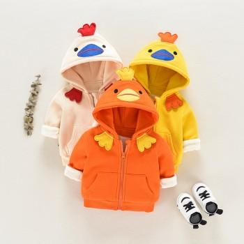 Cute Duck Design Hooded Coat for Baby