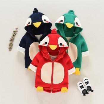 Cute Penguin  Design Hooded Coat for Baby