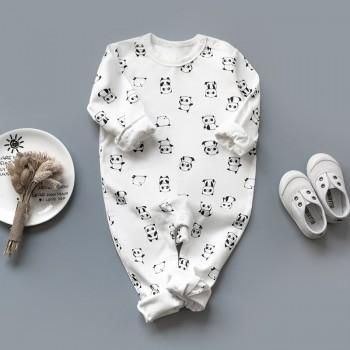 Adorable Panda Print Romper for Babies