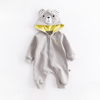 Adorable Animal Design Hooded Long-sleeve Jumpsuit for Baby