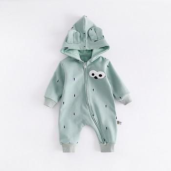 Cute Cartoon Hooded Long-sleeve Jumpsuit for Baby