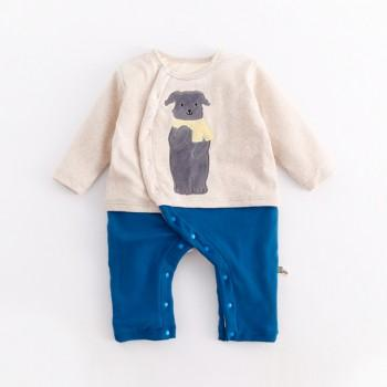 Handsome Dog Jumpsuit for Baby