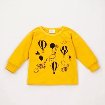 Cute Cartoon Print Long-sleeve T-shirt for Baby