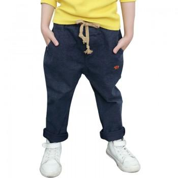 Comfy Solid Drawstring Pants for Boys