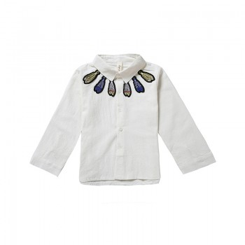 Casual Feather Applique Decor Long Sleeve Shirt for Boy