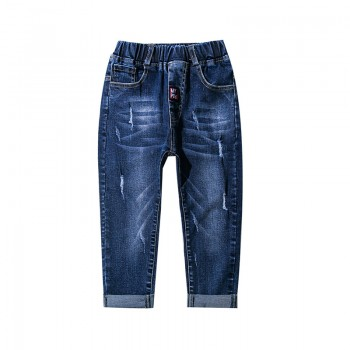 Fashionable Rip Jeans in Blue for Boy