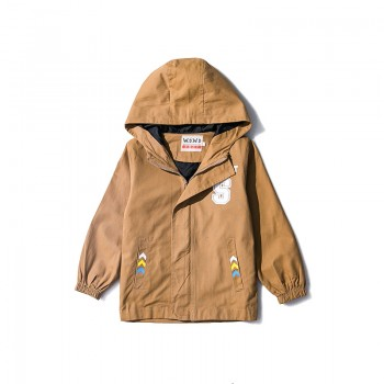 Cool Letter and Arrow Print Hooded Coat for Boys