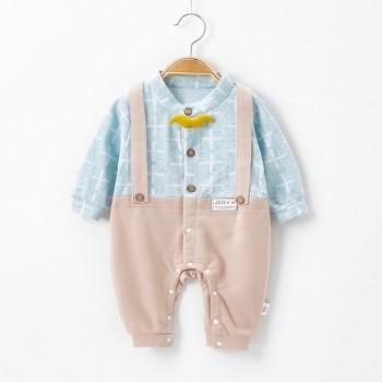 Pretty Faux-2 Long-sleeve Jumpsuit for Toddler Boy