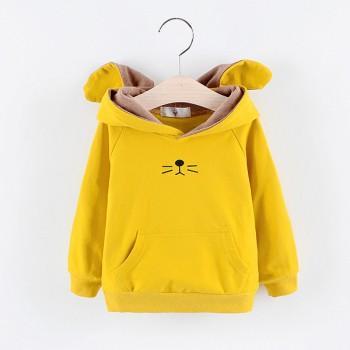 Stylish Rabbit Design Hoodie for Toddler Girl