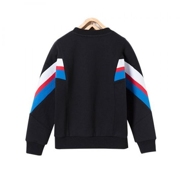 Fashionable Stripe Splicing Pullover for Boy