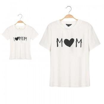 Sweet Letter and Heart Print T-shirt for Mom and Me